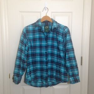 Stillwater supply co. Blue flannel size large
